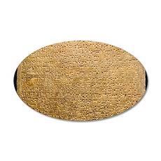 Cuneiform inscription 35x21 Oval Wall Decal