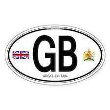 Great Britian (GB) Euro Oval Decal