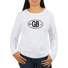 Great Britian (GB) Euro Oval Women's Long Sleeve T