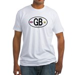 Great Britian (GB) Euro Oval Fitted T-Shirt