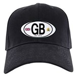 Great Britian (GB) Euro Oval Black Cap