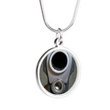 Patriot Nation Why .45? Silver Round Necklace
