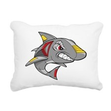 Robot Shark Rectangular Canvas Pillow
