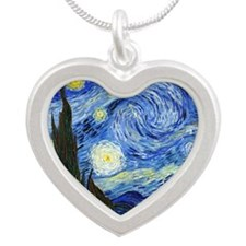 Van Gogh Silver Heart Necklace