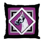 Harlequin Great Dane design Throw Pillow