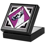 Harlequin Great Dane design Keepsake Box