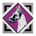 Harlequin Great Dane design Tile Coaster