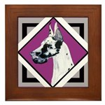 Harlequin Great Dane design Framed Tile