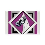 Harlequin Great Dane design Rectangle Magnet