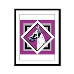 Harlequin Great Dane design Framed Panel Print