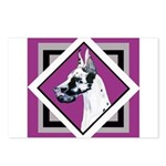 Harlequin Great Dane design Postcards (Package of