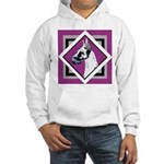 Harlequin Great Dane design Hooded Sweatshirt