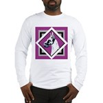 Harlequin Great Dane design Long Sleeve T-Shirt