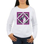 Harlequin Great Dane design Women's Long Sleeve T-