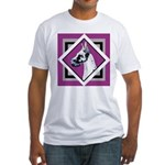 Harlequin Great Dane design Fitted T-Shirt