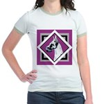 Harlequin Great Dane design Jr. Ringer T-Shirt