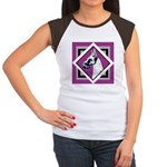 Harlequin Great Dane design Women's Cap Sleeve T-S