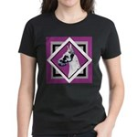 Harlequin Great Dane design Women's Dark T-Shirt