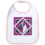 Harlequin Great Dane design Bib