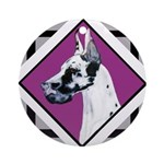 Harlequin Great Dane design Ornament (Round)