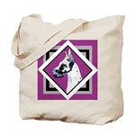 Harlequin Great Dane design Tote Bag