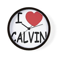 I heart CALVIN Wall Clock