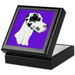 Down Ear Harlequin Great Dane Keepsake Box