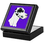 Down Ear Harlequin Great Dane Keepsake Box