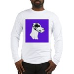 Down Ear Harlequin Great Dane Long Sleeve T-Shirt