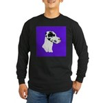 Down Ear Harlequin Great Dane Long Sleeve Dark T-S