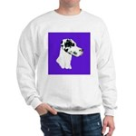 Down Ear Harlequin Great Dane Sweatshirt