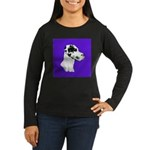 Down Ear Harlequin Great Dane Women's Long Sleeve