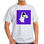 Down Ear Harlequin Great Dane Light T-Shirt