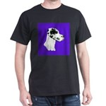 Down Ear Harlequin Great Dane Dark T-Shirt