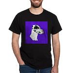 Down Ear Harlequin Great Dane Dark T-Shirt
