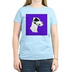 Down Ear Harlequin Great Dane Women's Light T-Shir