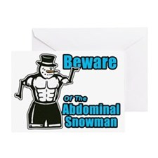 Abdominal Snowman Greeting Card
