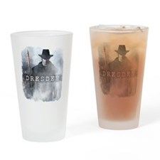 White Night shirt Drinking Glass