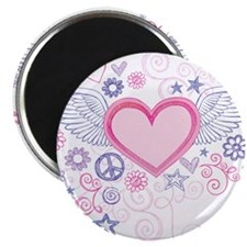 Winged Heart Magnet