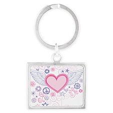 Winged Heart Landscape Keychain