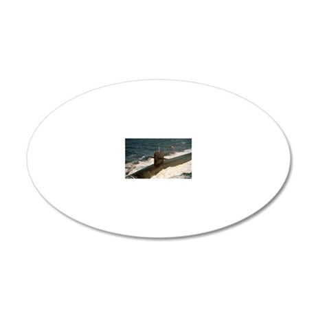 uss kentucky rectangle magne 20x12 Oval Wall Decal