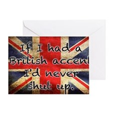 British Accent Greeting Card