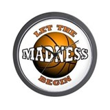 The Madness Begins Wall Clock