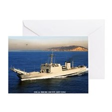 uss la moure county framed panel pri Greeting Card