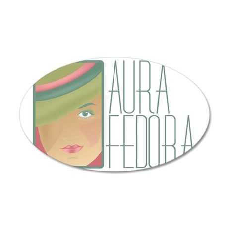 Aura Fedora Official Logo Ge 35x21 Oval Wall Decal
