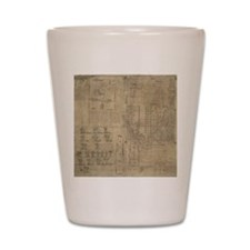 Aztec map, 16th century Shot Glass