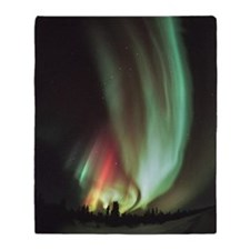 Aurora borealis Throw Blanket