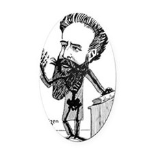 Caricature of Roentgen and X-rays Oval Car Magnet