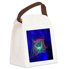 Cell structure, fluorescent micro Canvas Lunch Bag