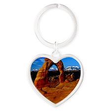 Arches National Park, Utah Heart Keychain